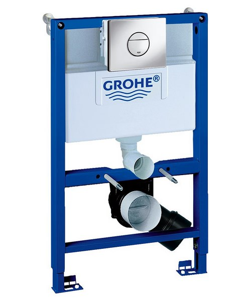 Grohe Rapid SL WC Frame 3 In 1 Pack With Cistern And Nova Flush Plate
