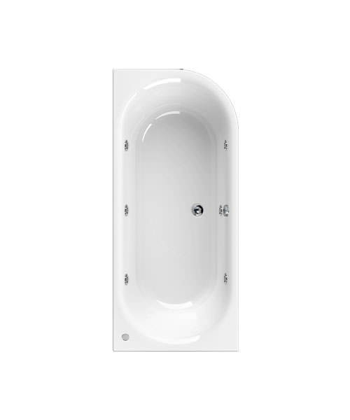 Aquaestil Metauro 2 1800 x 800mm Whirlpool Bath