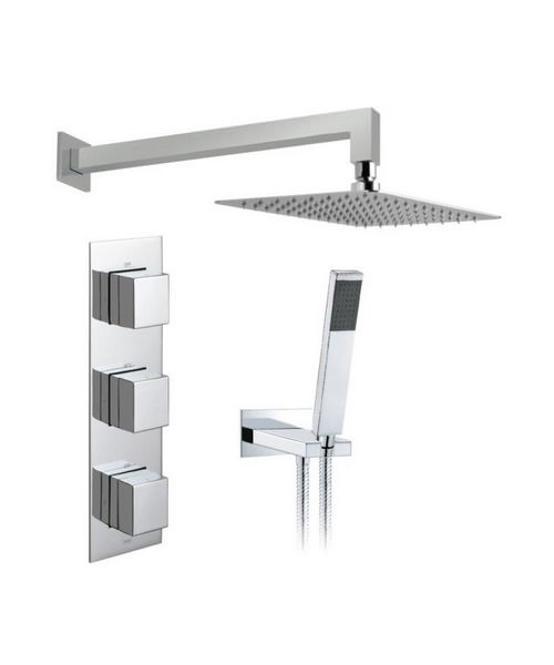 Vado Tablet Notion Vertical 2 Outlet Thermostatic Shower Package