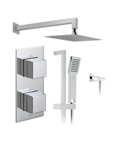 Vado Tablet Notion Thermostatic Valve With Shower Head And Slide Rail Kit