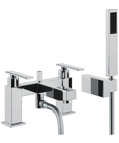 Abode Marino Deck Mounted Bath Shower Mixer Tap with Shower Handset