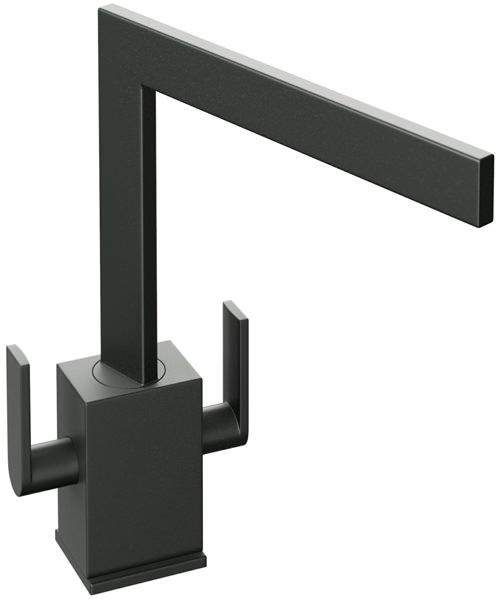 Abode Edge Monobloc Kitchen Sink Mixer Tap Granite Black