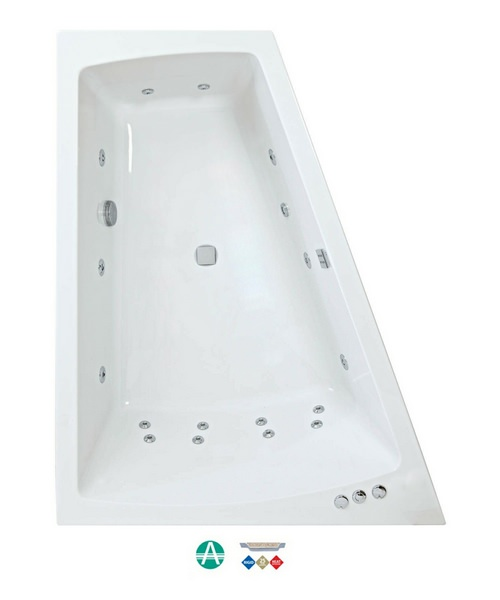 Phoenix Figura Amanzonite 1700 x 1300mm Left Hand Whirlpool Bath With Panel