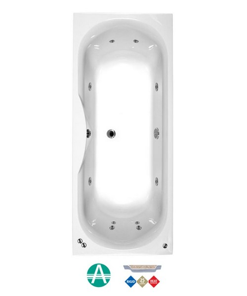 Phoenix Seville Amanzonite 1700 x 750mm Double Ended Whirlpool Bath