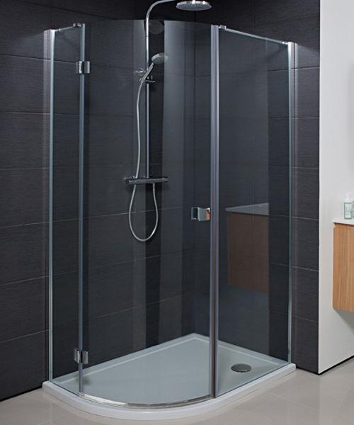 Simpsons Design 1200 x 900mm Single Door Offset Quadrant Enclosure