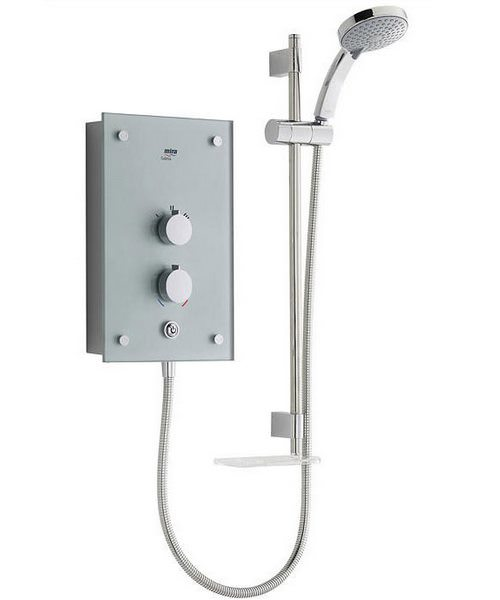 Mira Galena 9.8kW Thermostatic Electric Shower - Silver