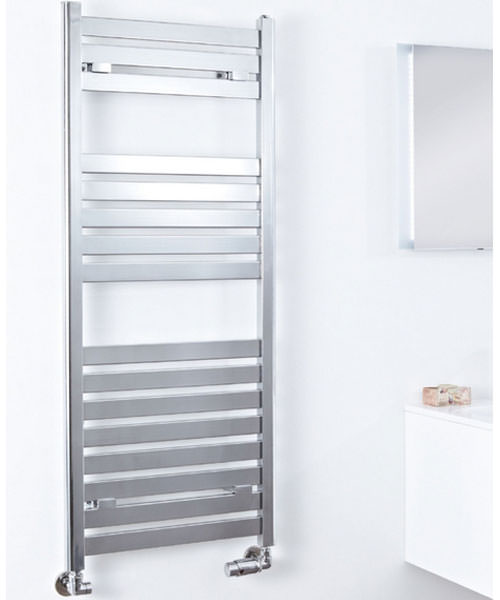 Phoenix Ascot Chrome 500 x 1000mm Designer Radiator