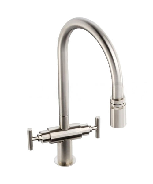 Abode Avior Contemporary Pull Out Kitchen Tap Brushed Nickel