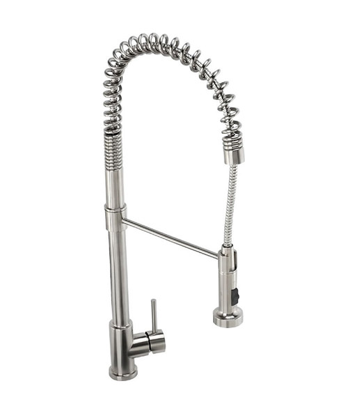 Abode Stalto Professional Kitchen Tap - Stainless Steel