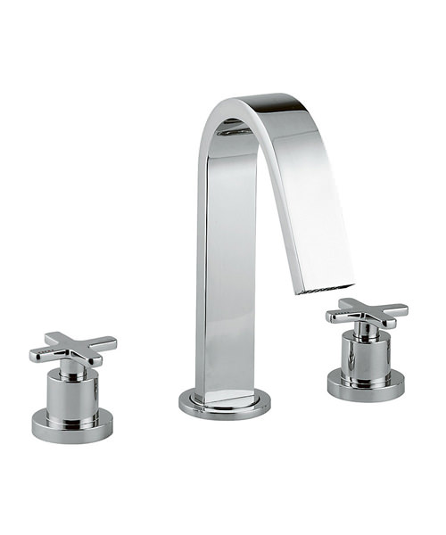 Abode Serenitie Deck Mounted 3 Tap Hole Bath Mixer Tap