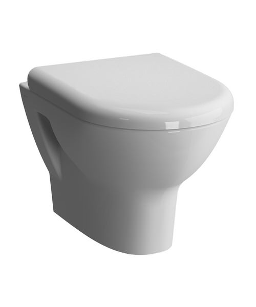 VitrA Zentrum 500mm Wall Hung WC Pan And Toilet Seat