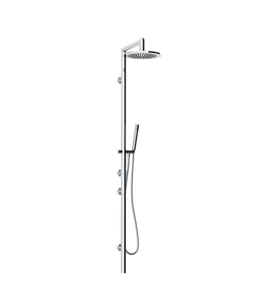 Abode Euphoria Oval Wall Mounted Thermostatic Shower Post With Handset