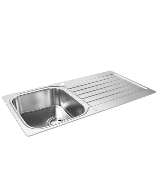 Abode Arka 1.0 Bowl Reversible Kitchen Stainless Steel Sink