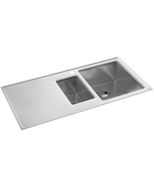 Abode Theorem 1.5 Bowl Stainless Steel Kitchen Sink And RH Drainer