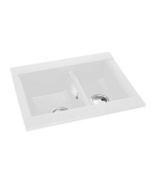 Additional image of Abode Aspekt 1.5 Bowl 636mm x 540mm Reversible Kitchen Sink