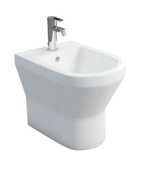 Britton Curve S30 Back To Wall White Finish Bidet With 1 Tap Hole