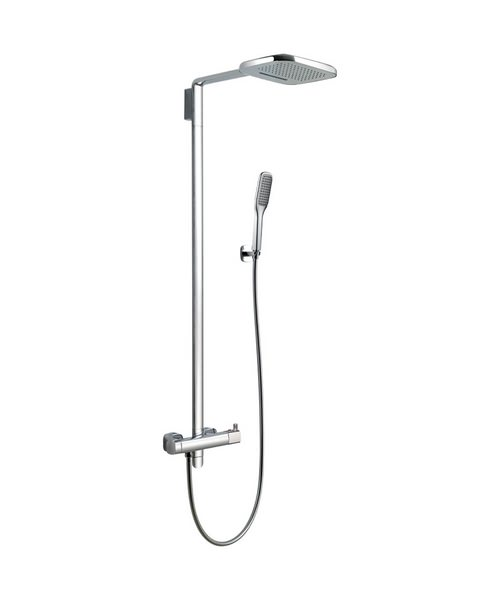 Flova Urban Thermostatic Shower Set With Rainshower/Waterfall Overhead