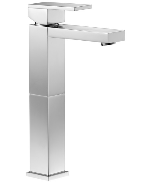 Additional image of Pura Bloque Single Lever Basin Mixer Tap With Clicker Waste