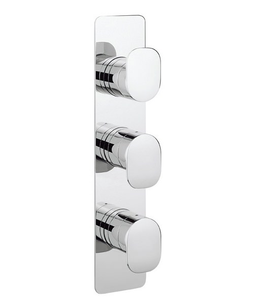 Crosswater KH Zero 2 Thermostatic Portrait Shower Valve With 3 Way Diverter