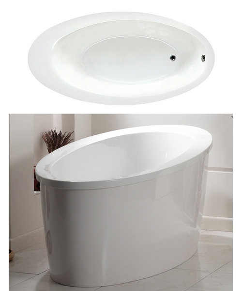 Phoenix Conamore Freestanding Oval Bath With White Surround