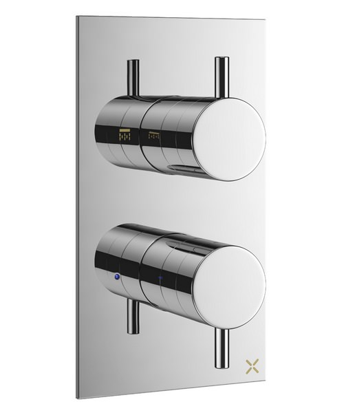 Crosswater Mike Pro Thermostatic Chrome Single Outlet Shower Valve
