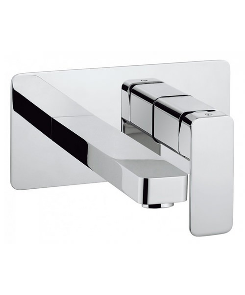 Crosswater Atoll Wall Mounted Chrome 2 Hole Basin Mixer Tap Set