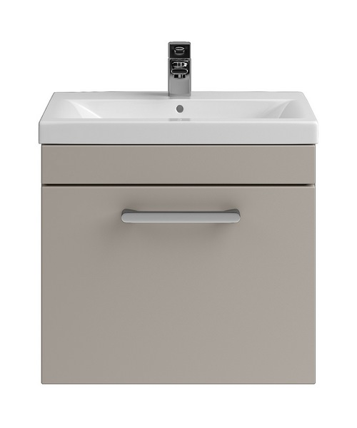 Lauren Shipton 500mm Stone Grey Wall Hung Drawer Cabinet And Basin