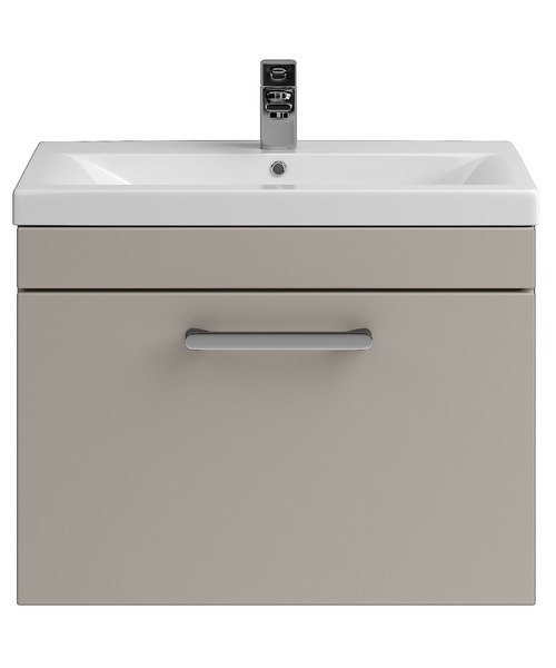 Lauren Shipton 600mm Stone Grey Wall Hung Drawer Cabinet And Basin