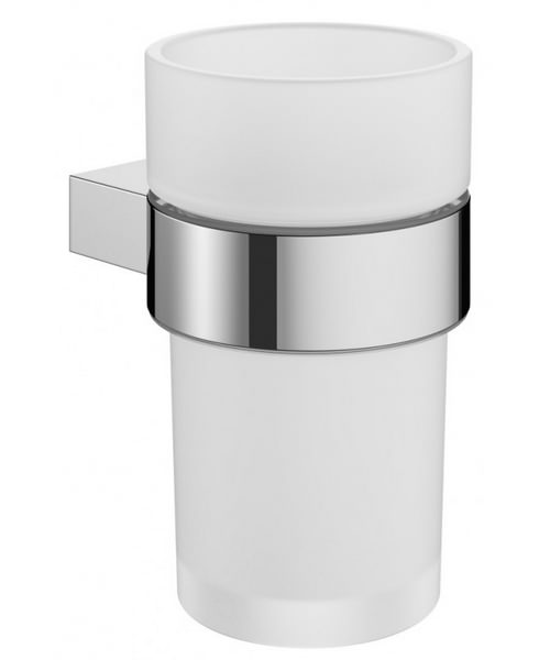 Crosswater Mike Pro Glass Tumbler And Chrome Finish Holder