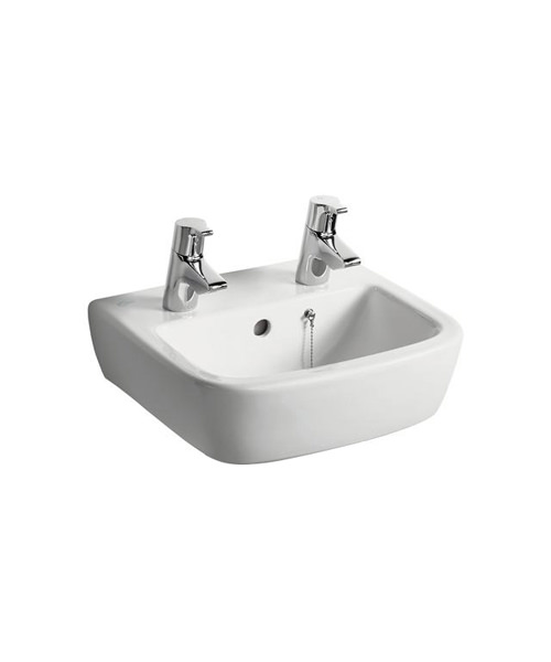 Ideal Standard Tempo Two Hole 400mm Wide Handrinse Basin
