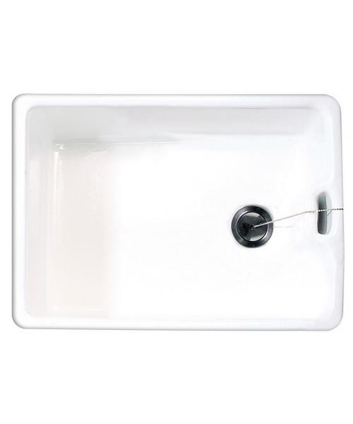 Astracast Belfast Gloss White Ceramic Sit-In Sink - 1.0 Bowl