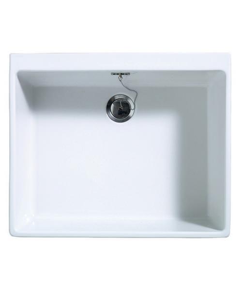 Astracast Sudbury Gloss White Ceramic Sit-In Sink - 1.0 Bowl