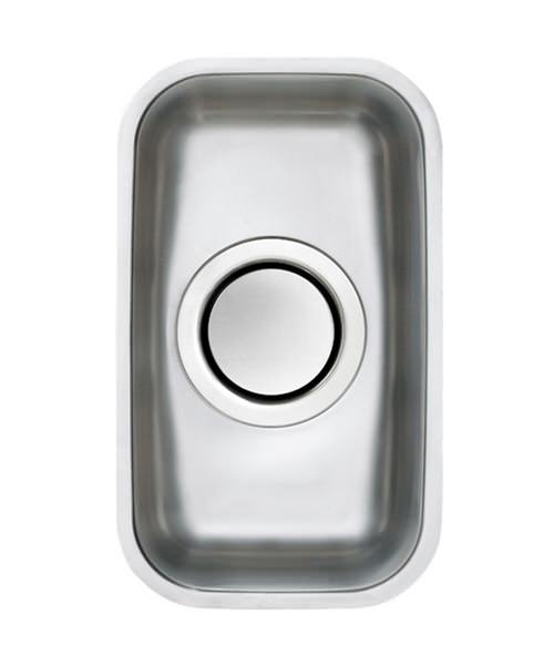 Astracast Edge H1 Polished Stainless Steel Undermount Sink - 0.5 Bowl