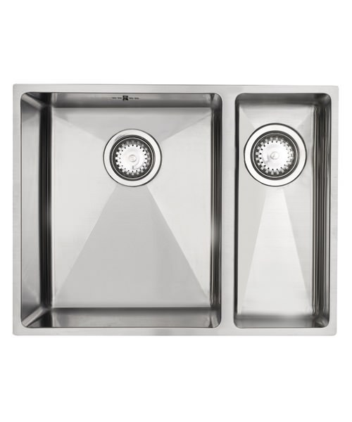 Astracast Onyx 4053 Brushed Stainless Steel Flush Inset Sink - 1.5 Bowl