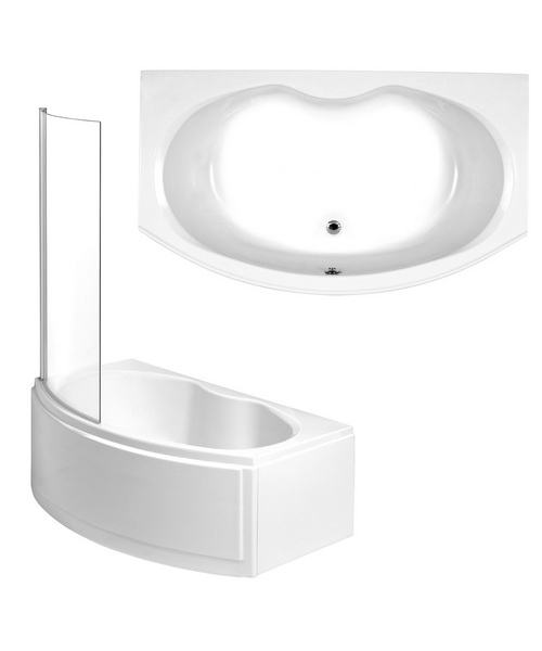 Phoenix Napoli Left Hand Shower Bath With Panel And Screen 1700mm