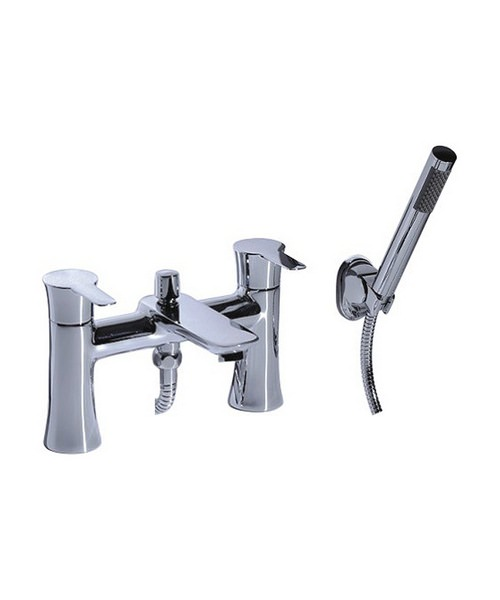 Mayfair Fistral Chrome Mixer Bath Shower Tap With Kit