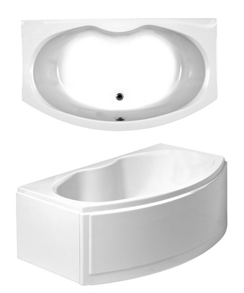 Phoenix Corsica Bow Fronted Corner Bath With Panels 1700 x 970mm