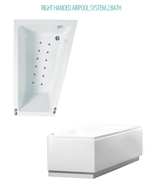 Phoenix Saranto Airpool System 2 Corner Bath With Bath Panel