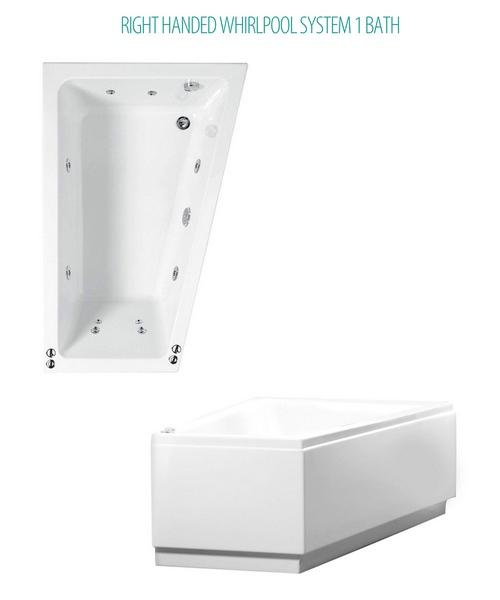 Phoenix Saranto Whirlpool System 1 Corner Bath With Bath Panel