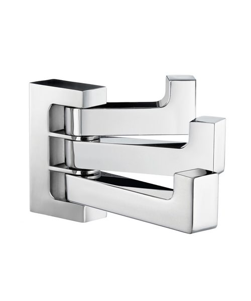 Smedbo Life Chrome 20 x 76mm Wall Mounted Swing Arm Triple Towel Hook