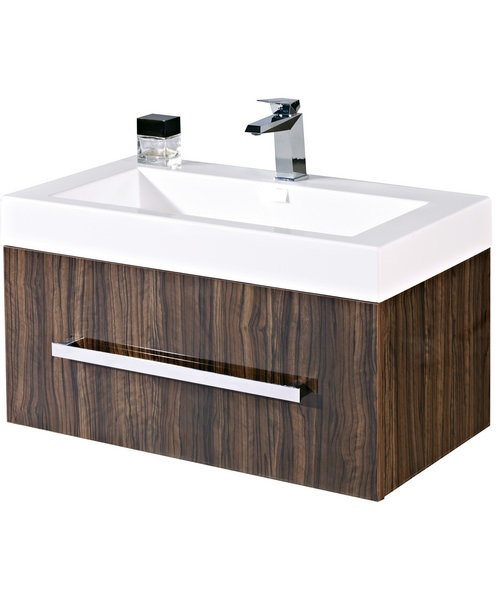 Phoenix Vue 800mm Wall-Mounted Unit And Mineral Cast Basin