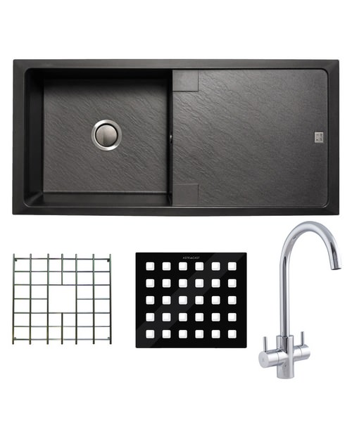 Astracast Contour Composite ROK TEX Inset Sink And Tap Pack - 1.0 Bowl