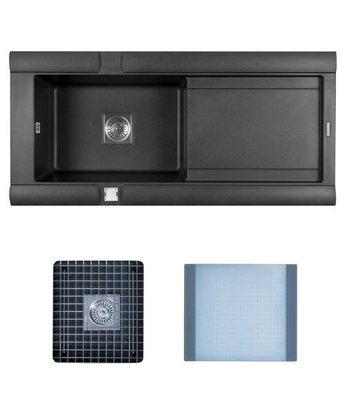 Astracast Geo Composite ROK Metallic Inset Sink And Accessories - 1.0 Bowl