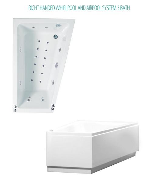 Phoenix Saranto Corner Bath With Whirlpool And Airpool System 3