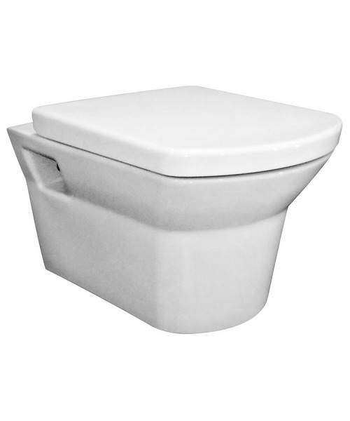 Premier Clara Wall Hung WC Pan 525mm And Seat