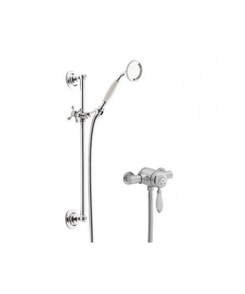 Heritage Ryde Exposed Chrome Single Control Mini Valve With Shower Kit