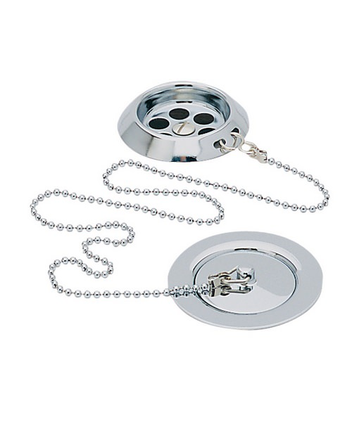 Heritage Bath Waste With Plug And Chain Chrome