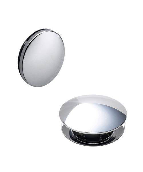 Heritage Push Button Bath Waste Chrome