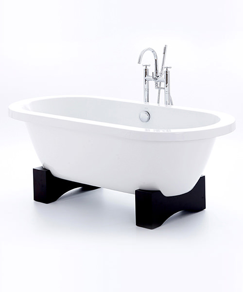 Royce Morgan Akita Freestanding Bath With Dark Oak Base 1675 x 780mm