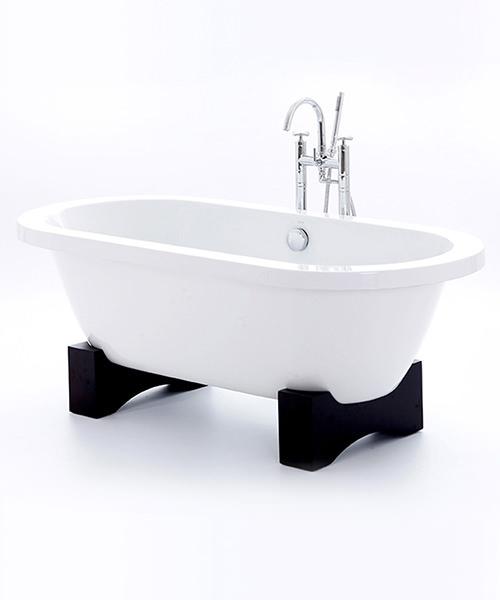 Royce Morgan Akita Freestanding Bath With Dark Oak Base 1675 x 780mm